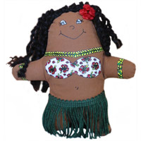 Pocket Hula Girl Doll